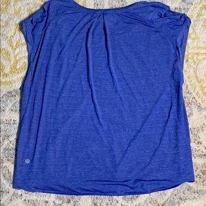lululemon athletica Tops - Lululemon Sleeveless Top Heather Blue Size 12